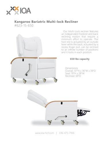 Kangaroo Bariatric Multi-lock Recliner  #623-15-650