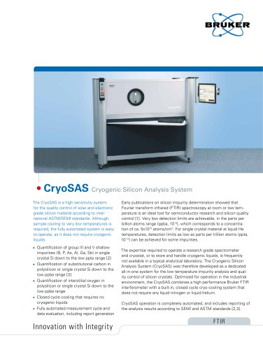CryoSAS: Cryogenic Silicon Analysis System