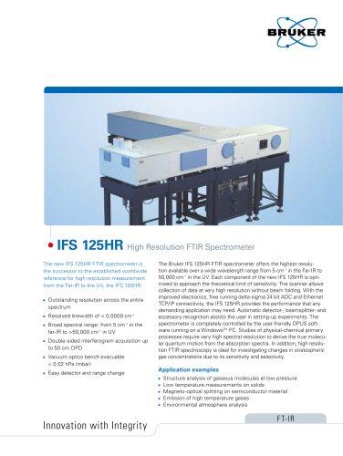 IFS 125HR  High Resolution FTIR Spectrometer
