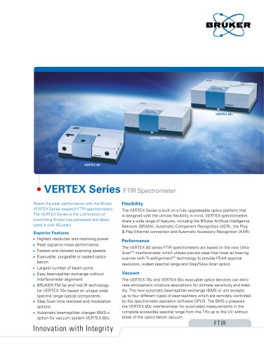 VERTEX Series Flyer