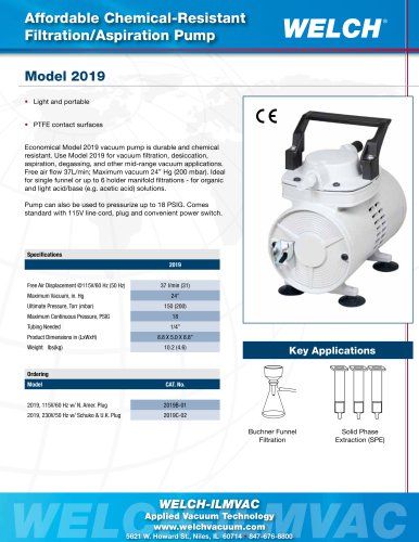 Chemical-Resistant Filtration/Aspiration Pump