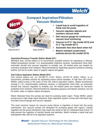 Compact Aspiration/Filtration Vacuum Stations