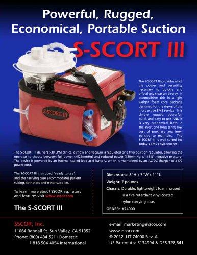 S-SCORT® lll Portable Suction Unit