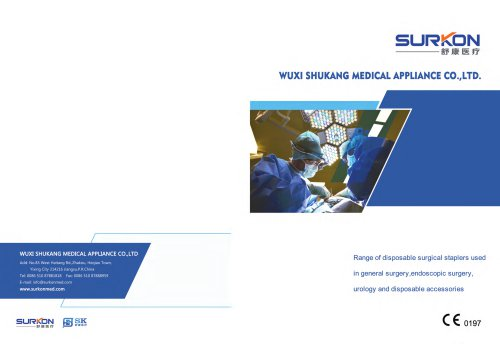Surkon medical surgical stapler series catalog