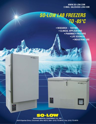 SO-LOW LAB FREEZERS TO -85°C