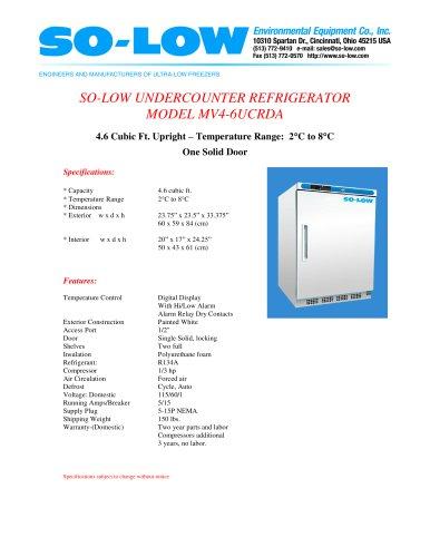 UNDERCOUNTER REFRIGERATOR MODEL MV4-6UCRDA