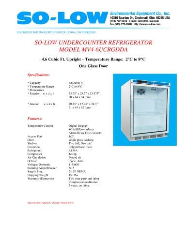 UNDERCOUNTER REFRIGERATOR MODEL MV4-6UCRGDDA