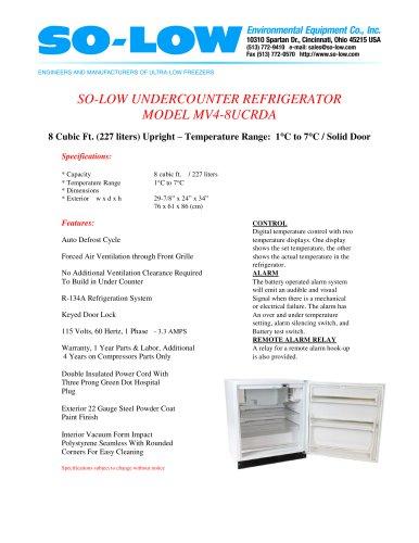 UNDERCOUNTER REFRIGERATOR MODEL MV4-8UCRDA