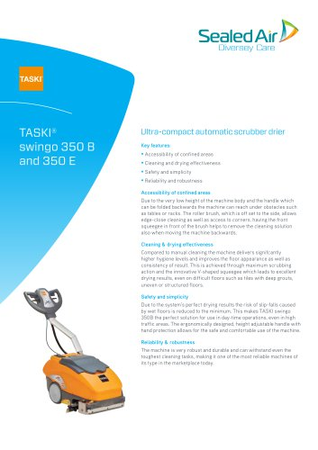TASKI® swingo 350 B and 350 E