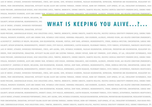 Brochure - What is keeping you alive?