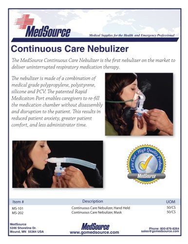 Continuous Care Nebulizer