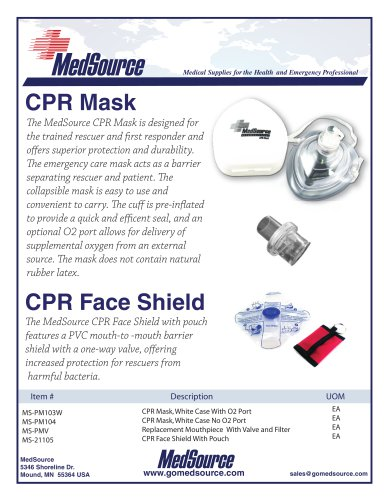 CPR Products - CPR Mask, CPR Barrier Mask, CPR Board