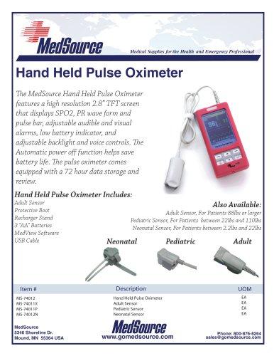 Hand Held Pulse Oximeter