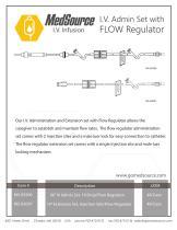 IV Admin Set with FLOW Regulator