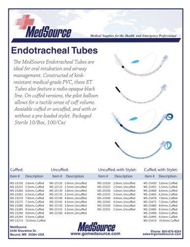 MedSource Endotracheal Tubes