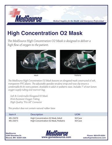 MedSource High Concentration Oxygen Mask