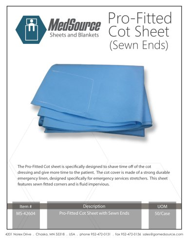 NEW Pro-Fitted Cot Sheet (Sewn Ends)