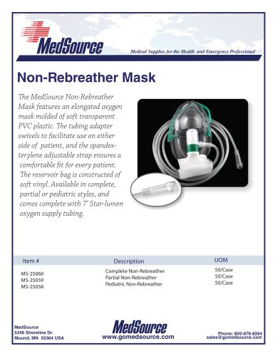 Non-Rebreather Oxygen Mask