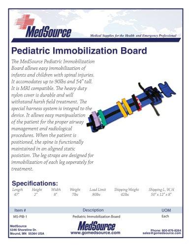 Pediatric Immobilization Board