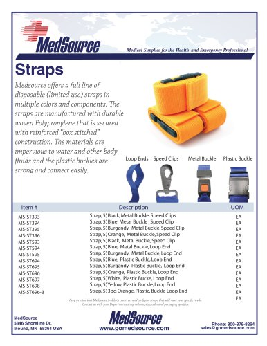 Restraint Straps