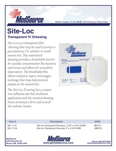 Site-Loc Transparent Dressing