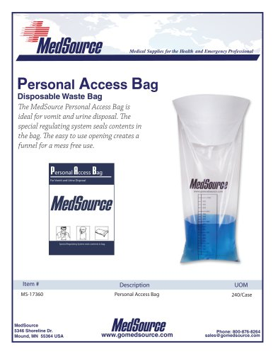 Yack Sack - Personal Access Bag