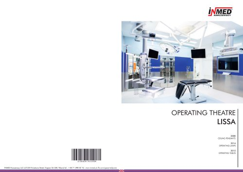 LISSA operating theatre/ medical pendants