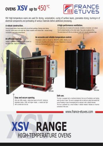 XSV - Etuves haute température grand volume