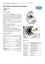 MSC-3000, Centrifuge/Vortex Multispin