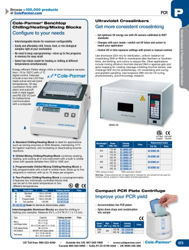 Cole-Parmer® Benchtop  Chilling/Heating/Mixing Blocks