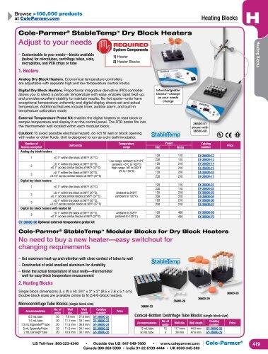 Cole-Parmer® StableTemp™ Dry Block Heaters