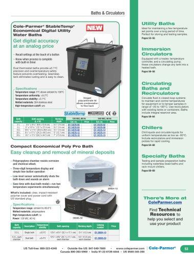 Cole-Parmer® StableTemp® Economical Digital Utility Water Baths