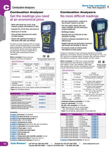 Combustion Analyzers