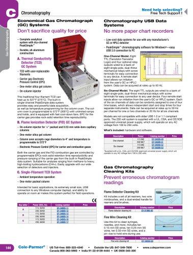 Economical Gas Chromatograph (GC) Systems