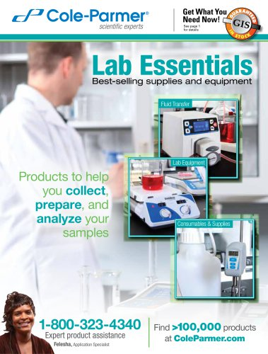 Lab Essentials Best-selling supplies and equipment