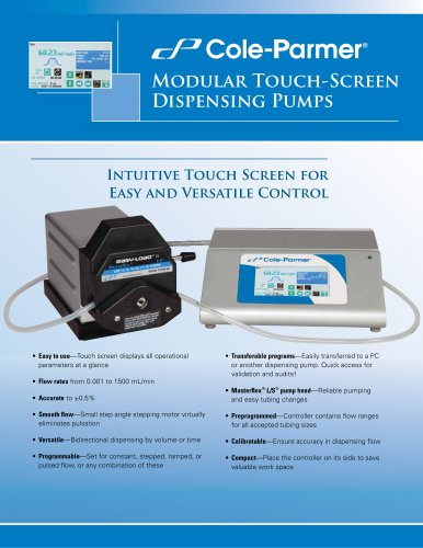 MODULAR TOUCH-SCREEN DISPENSING PUMPS