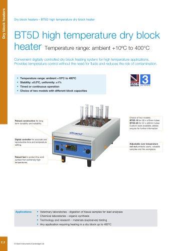 BT5D high temperature dry block heater