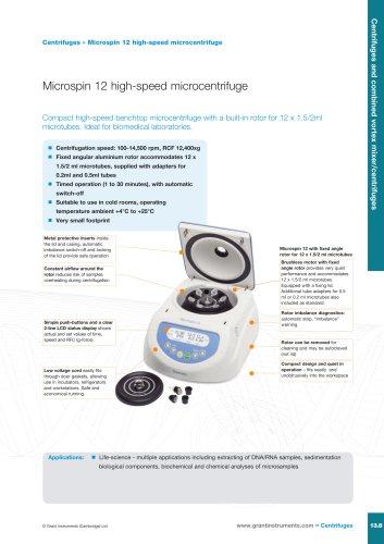 Microspin 12 high-speed mini centrifuge