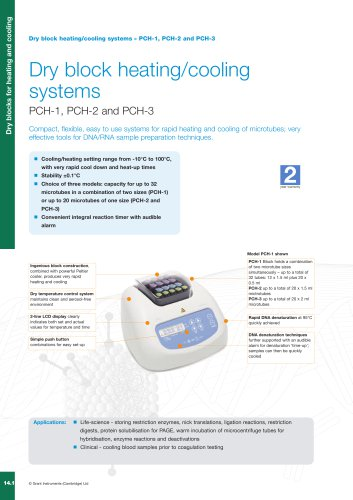 PCH Series Personal Benchtop Cooler / Heater