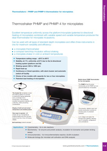 PHMP and PHMP-4 Thermoshakers For Microplates