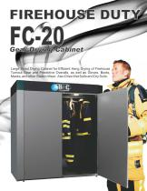 FC-20 Fireman's Turnout Gear (PPE) Drying Cabinet - 1