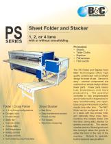 PS Series Commercial Sheet Folder and Stacker - 1