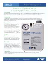 DRE DM-530 Veterinary Portable Aspirator with Battery Backup