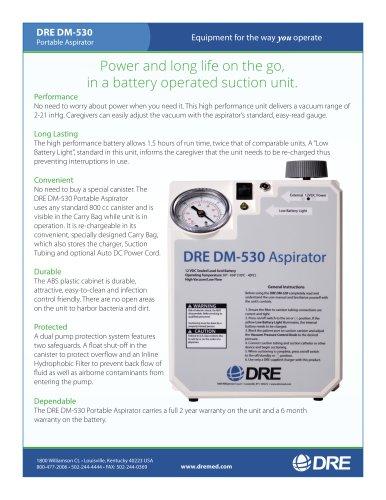DRE DM-530 Veterinary Portable Aspirator with Battery Backup