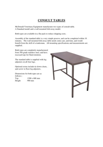 CONSULT TABLES