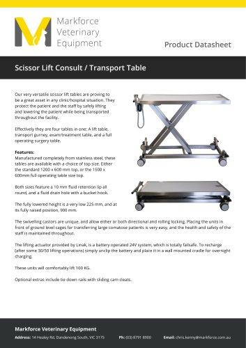 Scissor Lift Consult / Transport Table