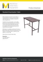 Standard examination table