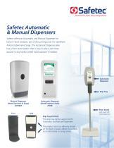 Instant Hand Sanitizer Manual Dispenser (Fresh Scent) - 1