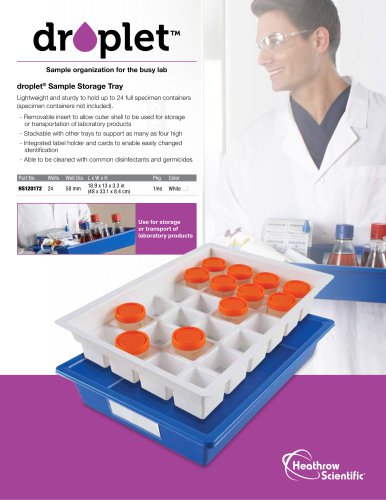 Droplet™ Sample Storage Trays