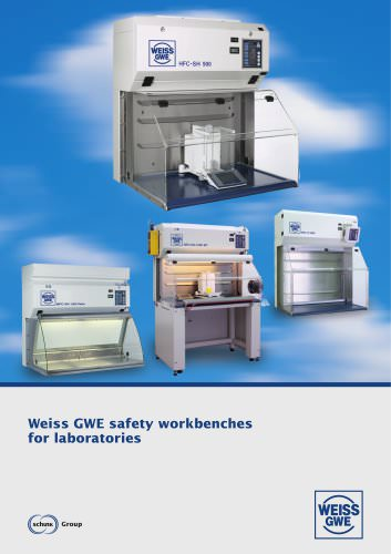 Weiss GWE safety workbenches